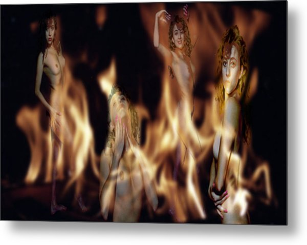 Flame Nymphs Metal Print