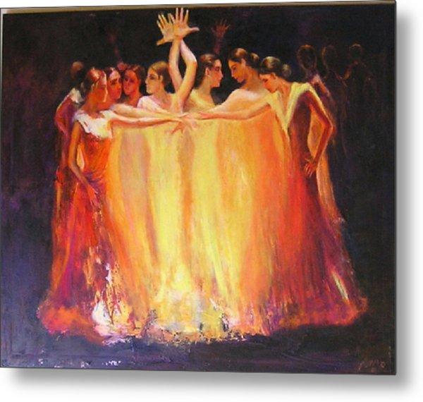 Flamenco Dance Of Light Metal Print