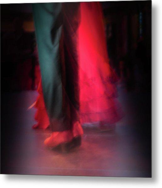 Flamenco Dancers Metal Print