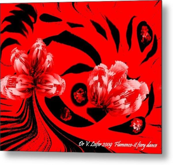 Flamenco-it Fiery Dance Metal Print by Dr Loifer Vladimir