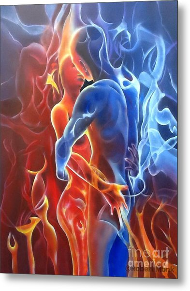 Flaming Lovers Metal Print