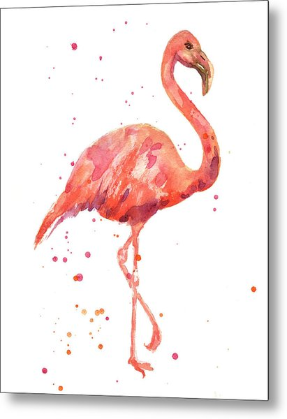 Flamingo Facing Right Metal Print