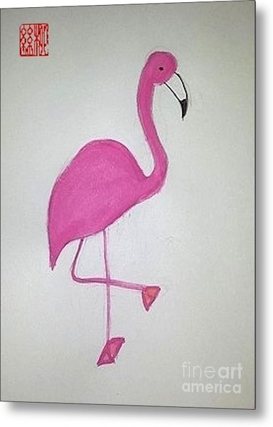 Flamingo Pink Metal Print
