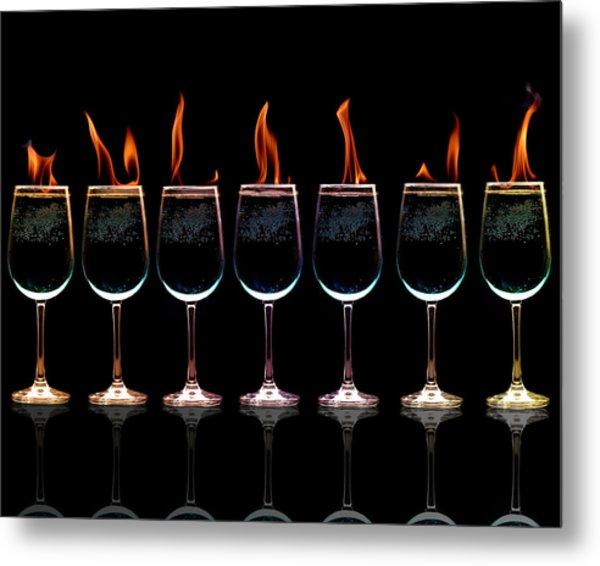 Flamming Glasses Metal Print by Brian Guiler