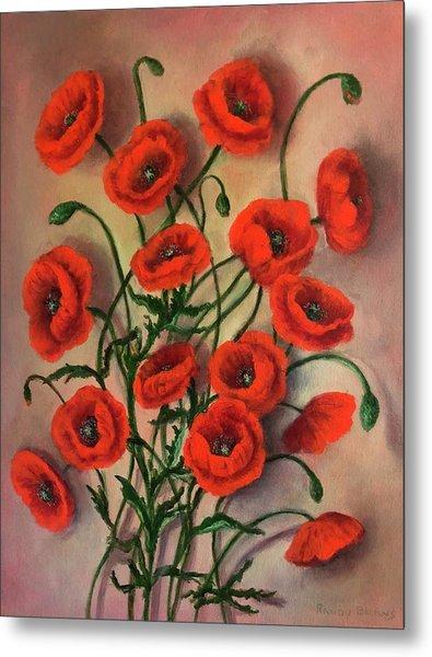 Flander Poppies Metal Print