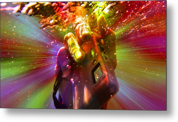 Flash Of Light Metal Print