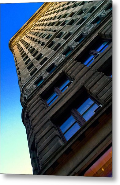 Flat Iron Sunset Metal Print by Keith Rousseau