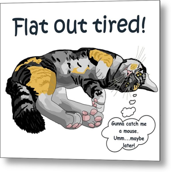 Flat Out Tired Metal Print