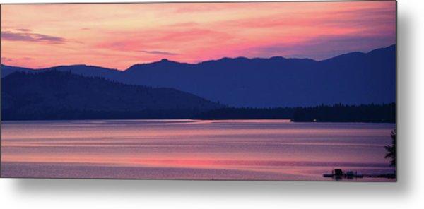 Flathead Lake At Sunrise Metal Print