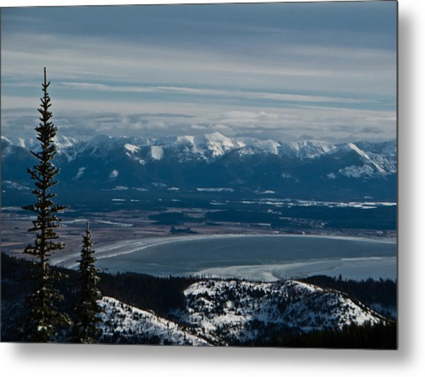 Flathead Valley In The Winter Metal Print