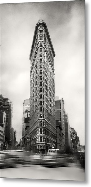 Flatiron District Rush Hour Metal Print