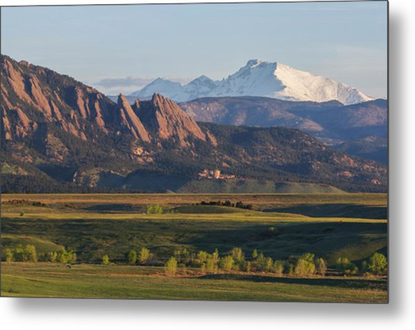 Flatirons And Longs Peak Metal Print