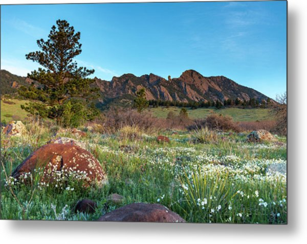 Metal Print featuring the photograph Flatirons Sunrise by Philip Rodgers