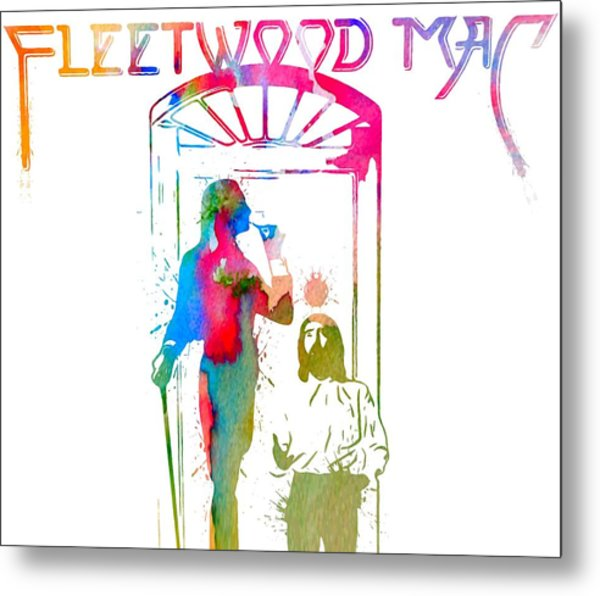 Fleetwood Mac Album Cover Watercolor Metal Print
