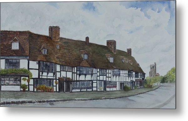 Flemish Weavers Cottages England Metal Print by Debbie Homewood