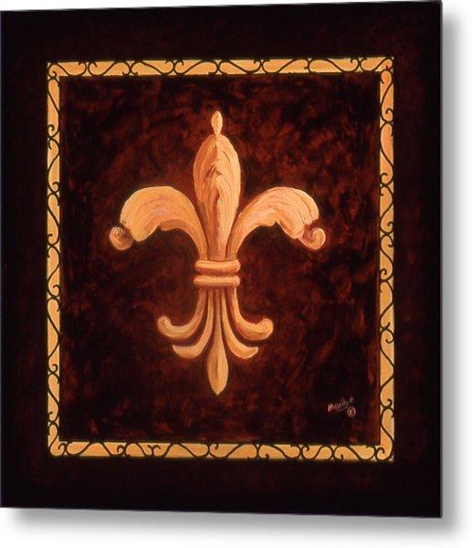 Fleur De Lys-king Charles Vii Metal Print