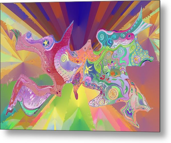 Flight Of Evolution Metal Print