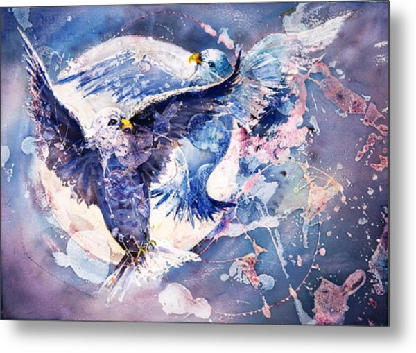 Flight Of The Doves Metal Print