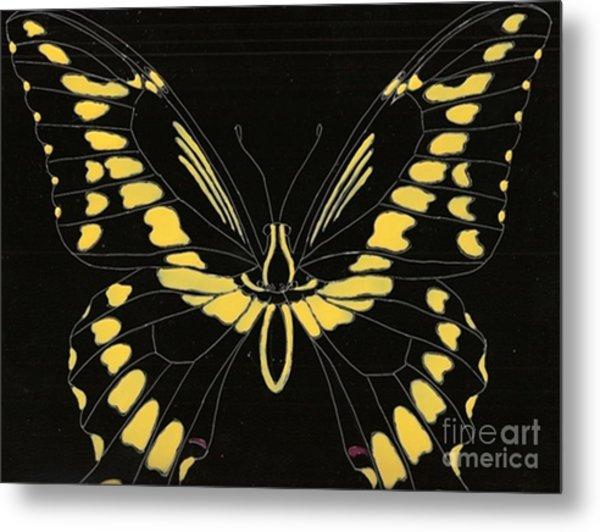 Flight Series 11 Yellow Tail Metal Print by Iamthebetty Tbone