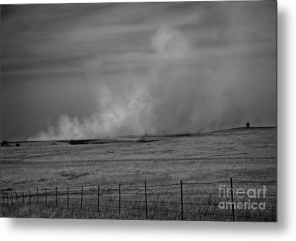 Flint Hills Burning Metal Print