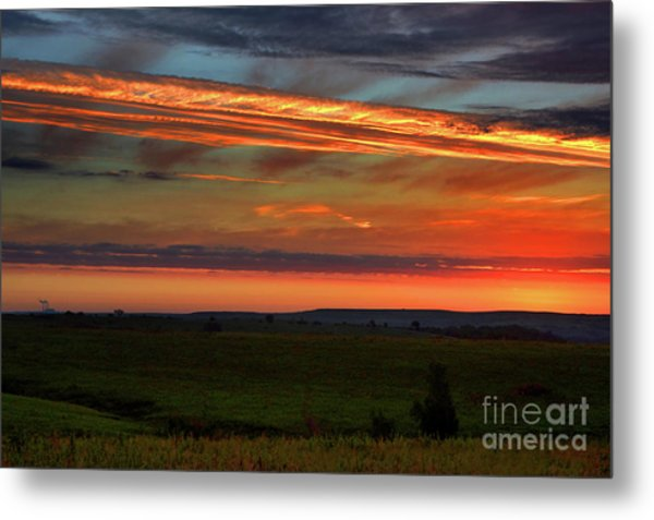 Flint Hills Sunrise Metal Print