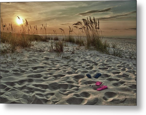 Flipflops On The Beach Metal Print