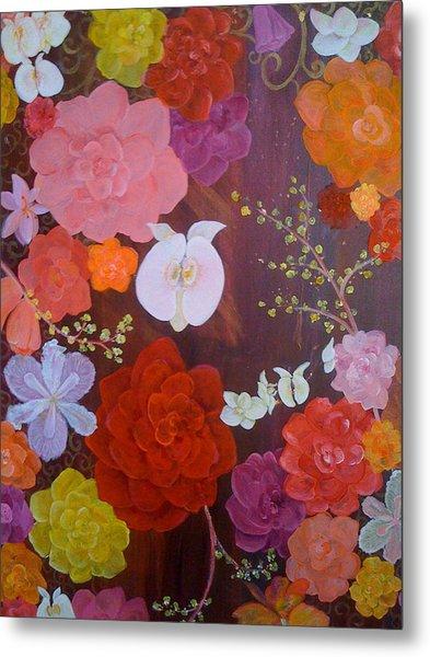 Flirty Blossoms Metal Print by Sabra Chili