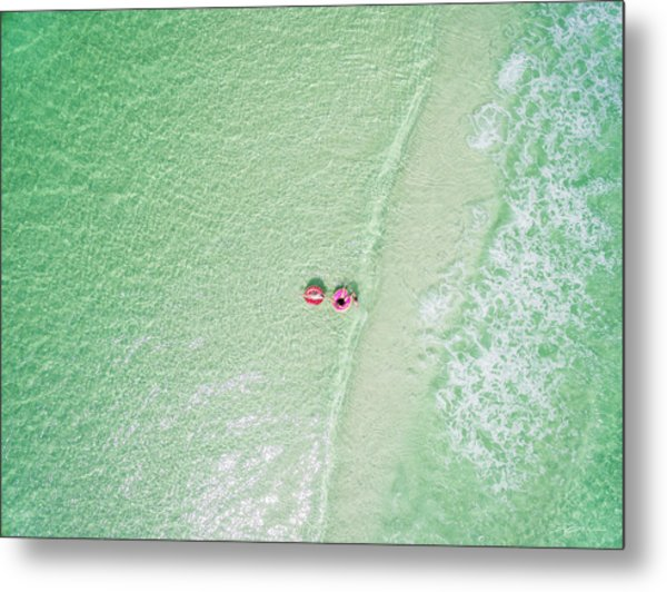 Float The Day Away On Gentle Waves Metal Print