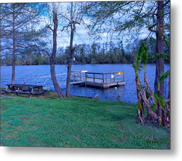 Floating Fishing Dock Metal Print by Bill Perry