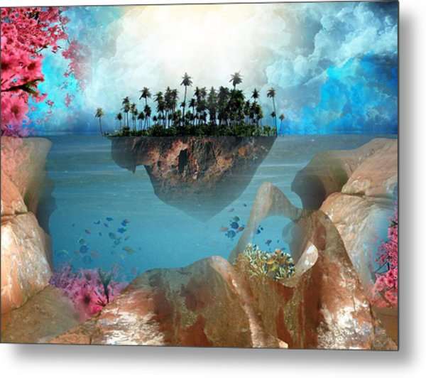 Floating Island Metal Print by Adrienne McMahon