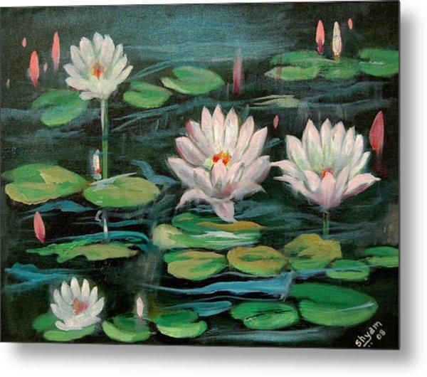 Floating Lillies Metal Print by Sai Shyamala Ramanand