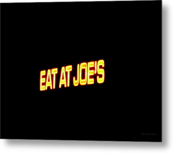 Floating Neon - Eat At Joes Metal Print