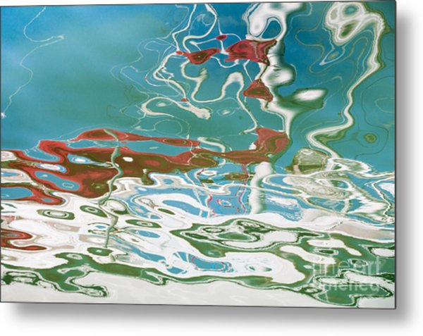 Floating On Blue 35 Metal Print