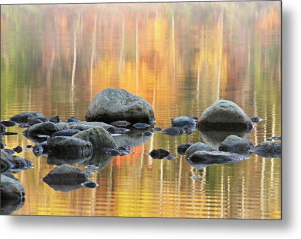 Floating Rocks Metal Print
