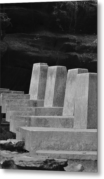 Floating Stone Staircase Metal Print by Peter  McIntosh