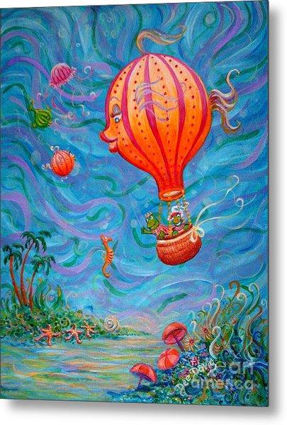 Floating Under The Sea Metal Print