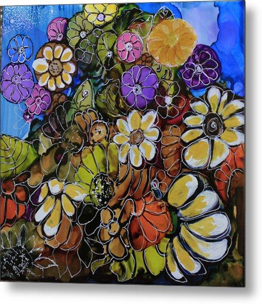 Floral Boquet Metal Print