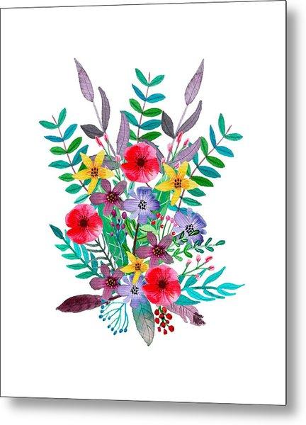 Just Flora Metal Print