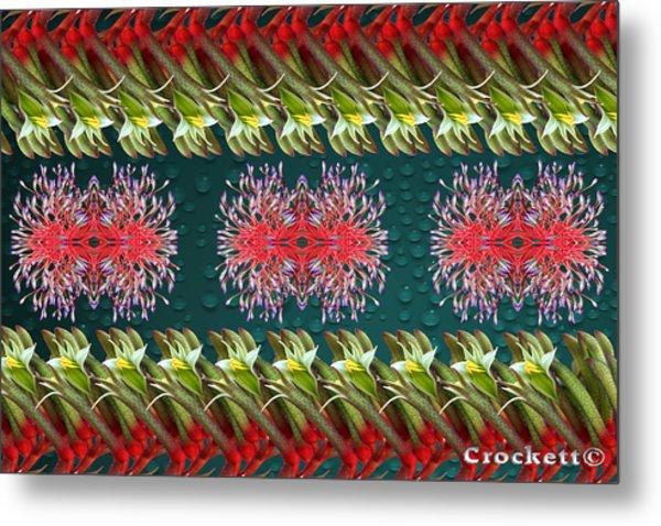 Floral Contemporary Art Metal Print