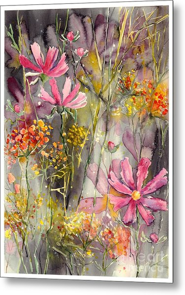 Floral Cosmos Metal Print