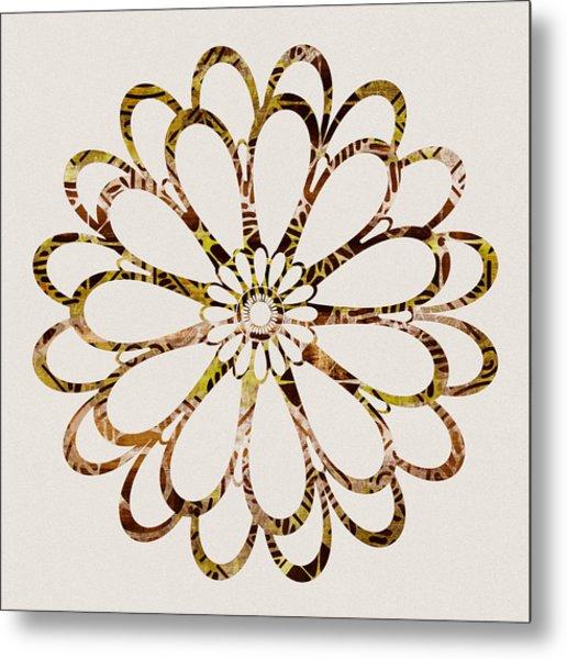 Floral Design Ornament Metal Print