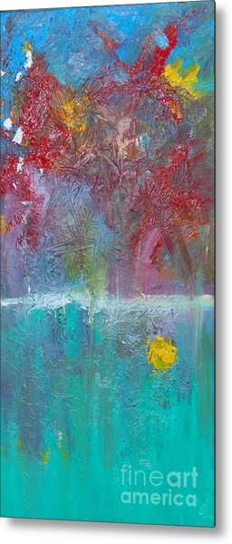 Floral Explosion Metal Print by Maria Curcic
