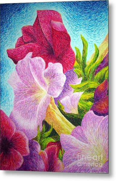 Floral In Pinks Metal Print