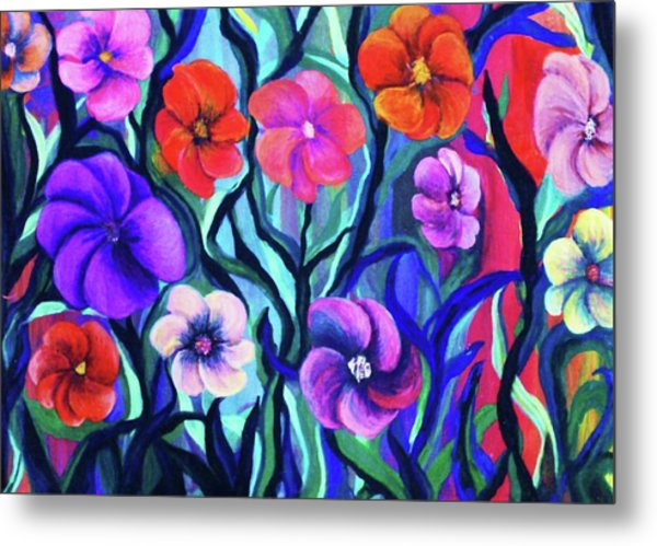 Floral No. 1 Metal Print by Jeanette Stewart