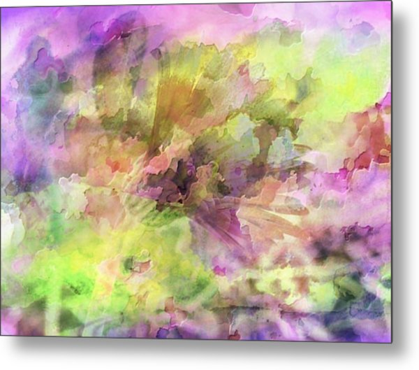 Floral Pastel Abstract Metal Print