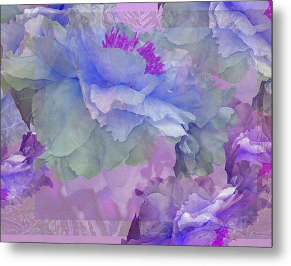Floral Potpourri With Peonies 4 Metal Print