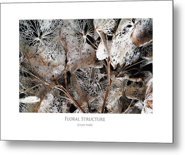 Metal Print featuring the digital art Floral Structure by Julian Perry