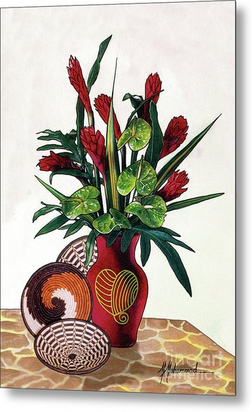 Floral Tropical Metal Print by Marcella Muhammad