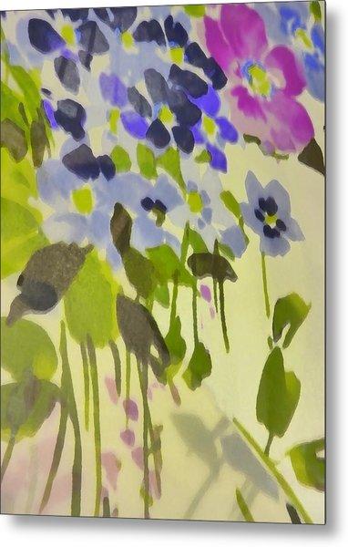 Floral Vines Metal Print by Florene Welebny