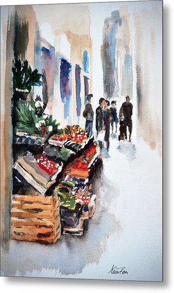Florence Street Market Metal Print by Neva Rossi